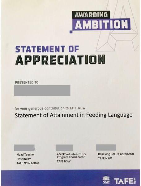 Statement Of attainment