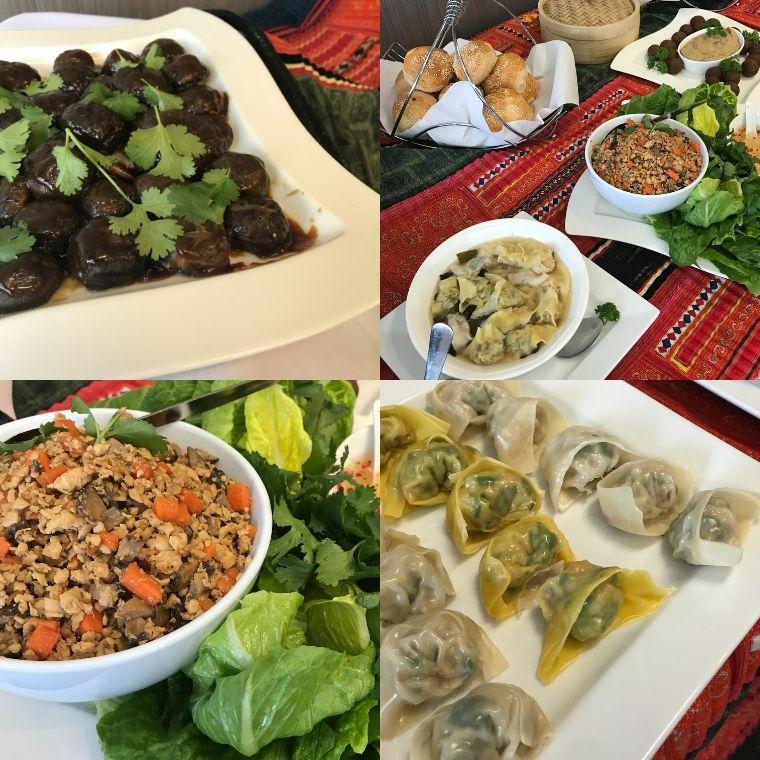 アジアン料理のコラージュ