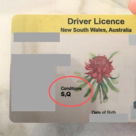 オーストラリアの運転免許証