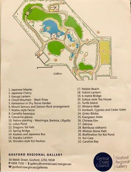 江戸川記念庭園 ゴスフォードの庭園マップ