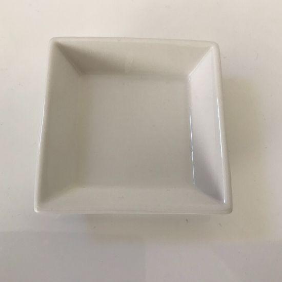 白くて四角いお皿